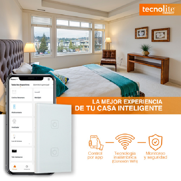 Apagador inteligente CREATOR 1 y de 1 botón marca Tecnolite