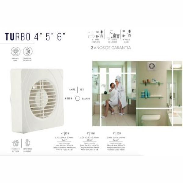 Extractor Decorativo Turbo  4″ 5″ 6″